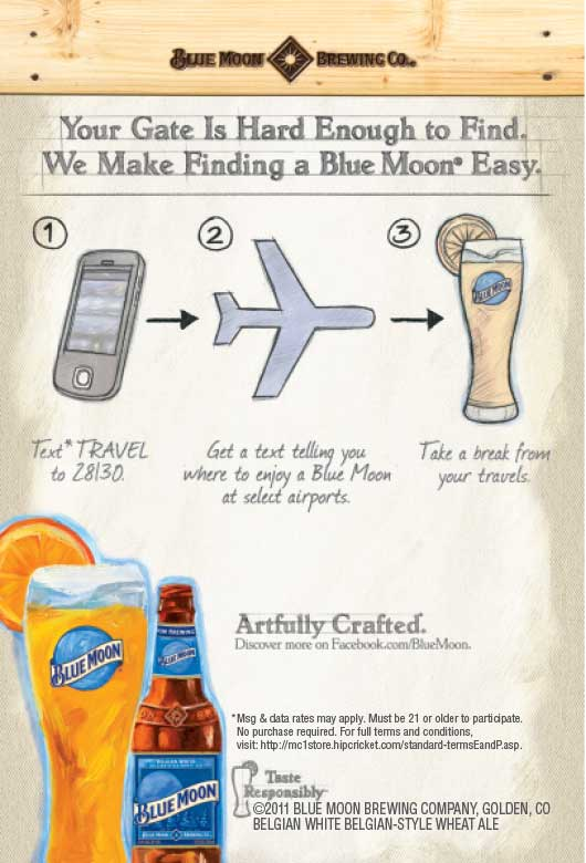 Example of Blue Moon® Campaign