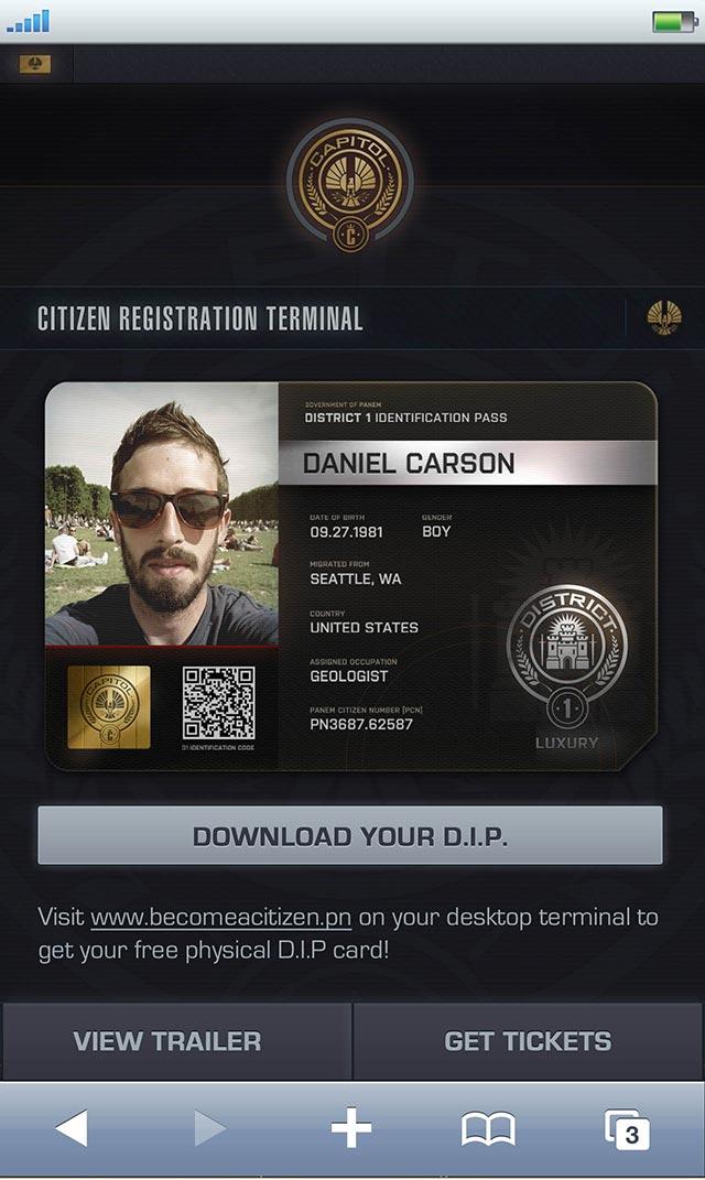 Lionsgate Hunger Games Mobile Website Campaign