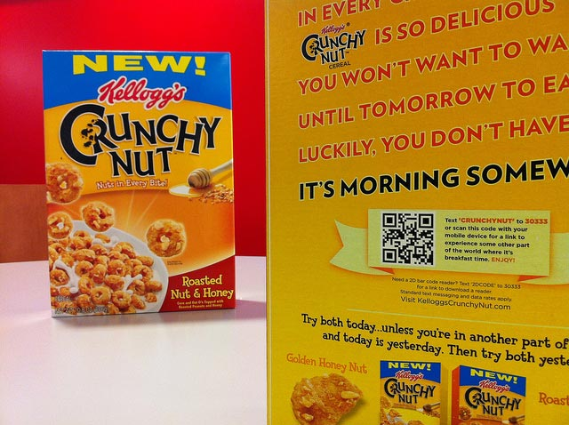 Kellogg's Crunchy Nut QR Code Campaign