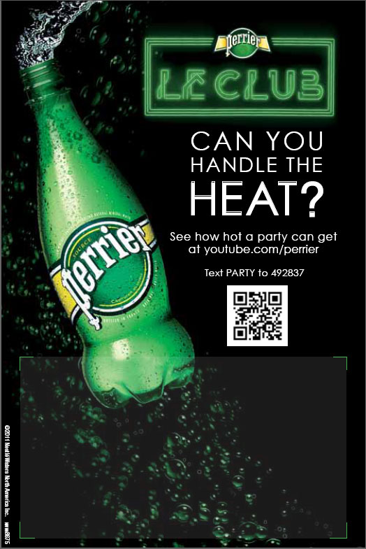 Perrier 'Club Perrier' QR Code Campaign